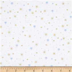Rejoice Metallic Stars White