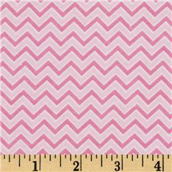 Alpine Flannel Basics Chevron Pink
