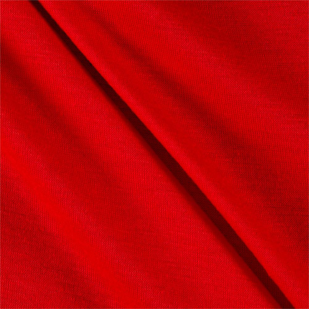Polyester Jersey Knit Solid Lipstick Red