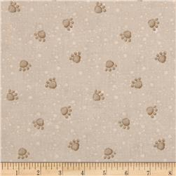 Pampered Pooch Paw Prints Beige