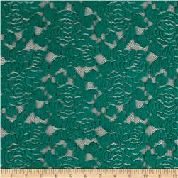 Felt Rose Lace Emerald