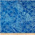 Indian Batiks Floral Blue/Turquoise