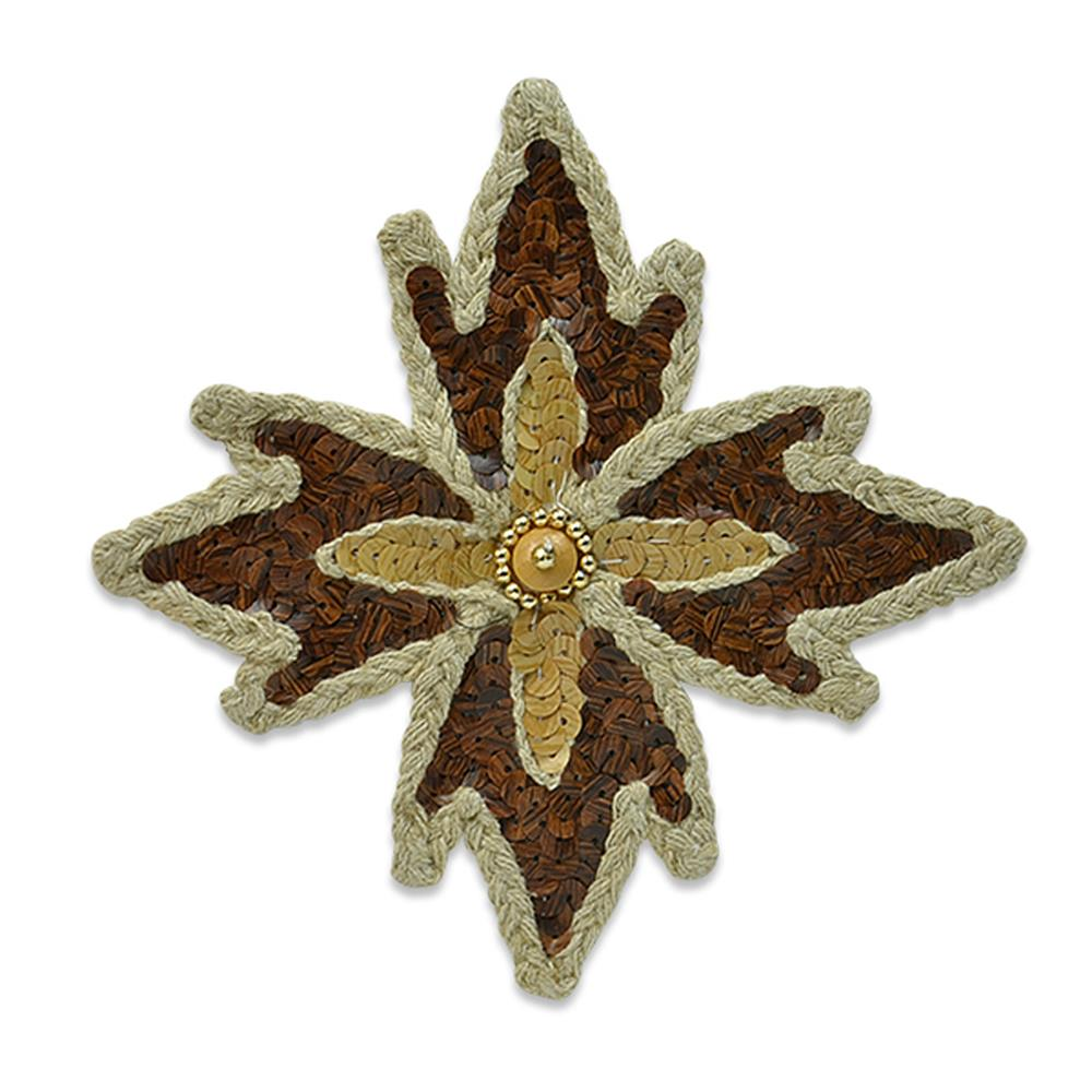 "5 1/2 x 5 1/2"" Wood Star Applique Natural"