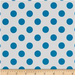 Riley Blake Laminated Cotton Dots Neon Blue