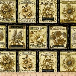 Sew Vintage Garden Almanac Black/Antique