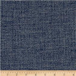 Kaufman Sevenberry Nara Homespun Specks Indigo