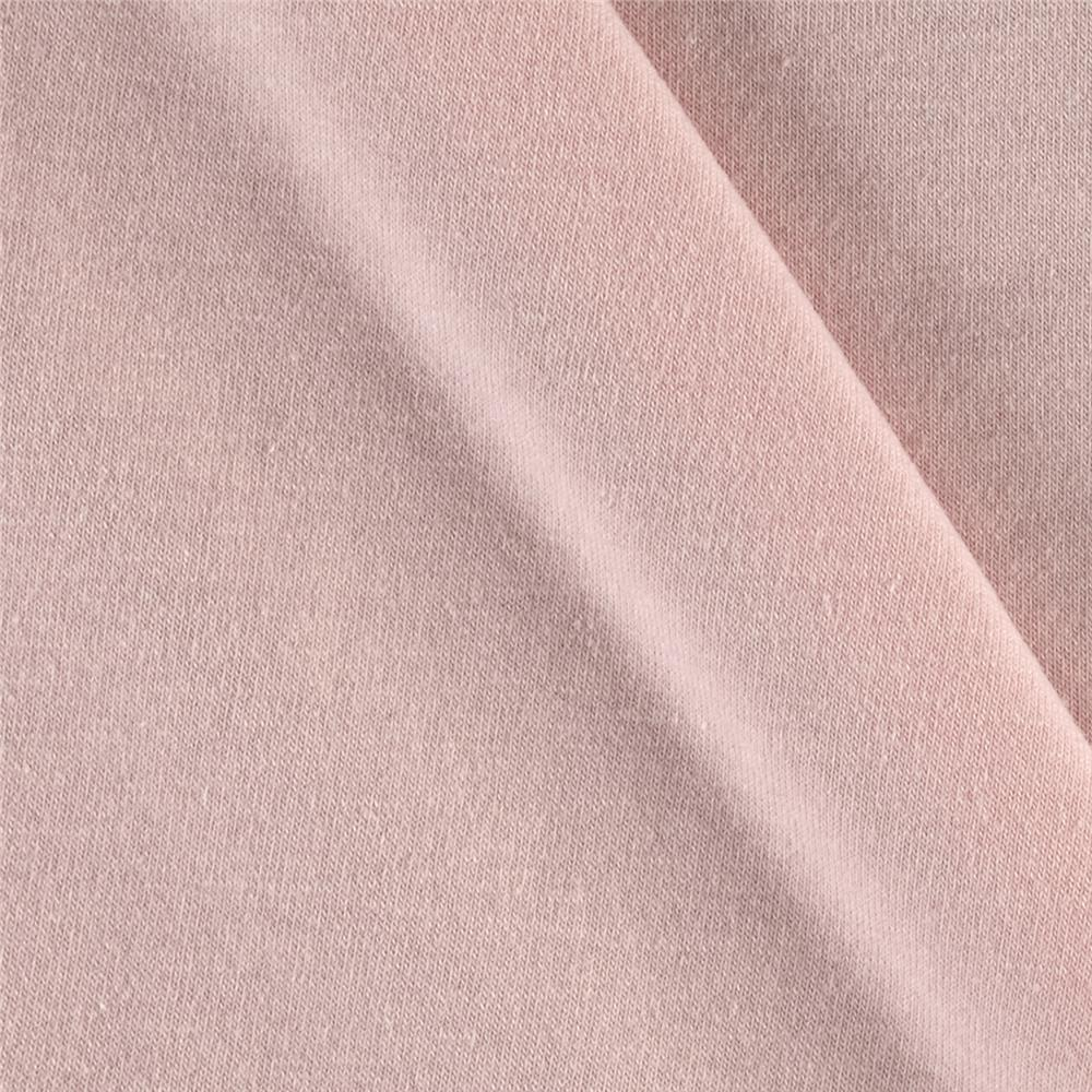 Polyester Cotton Blend Jersey Knit Light Pink