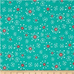 Moda Eat, Drink & Be Ugly Snowflakes Frozen Pond/Santa Red