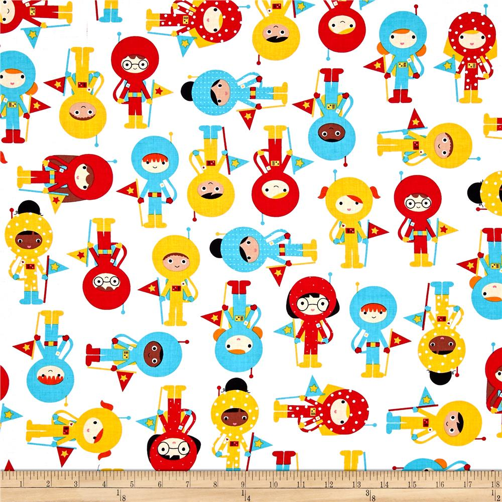 Outer space discount designer fabric for Kids space fabric
