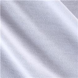 Polyester French Terry Knit Solid White