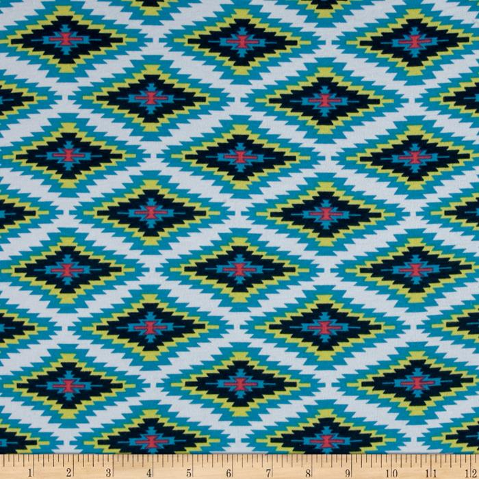Jersey Knit Diamond Teal