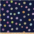 Micheal Miller Melodies Folk Floral Dot Navy
