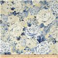Oriental Traditions Metallic Flower Collage Indigo