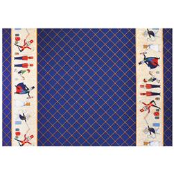 Michael Miller Nutcracker Metallic Act 1 Double Border Navy