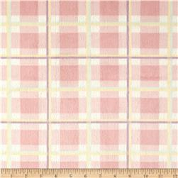 Minky Plaid Cuddle Pink