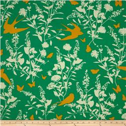 Joel Dewberry Bungalow Swallow Study Emerald Fabric