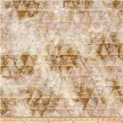 Kaufman Quilt Block Batik Triangle Strip Sand