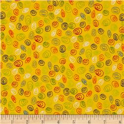 Flannel Spirals Yellow
