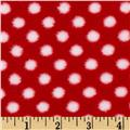 Fleece Polka Dot Red/White