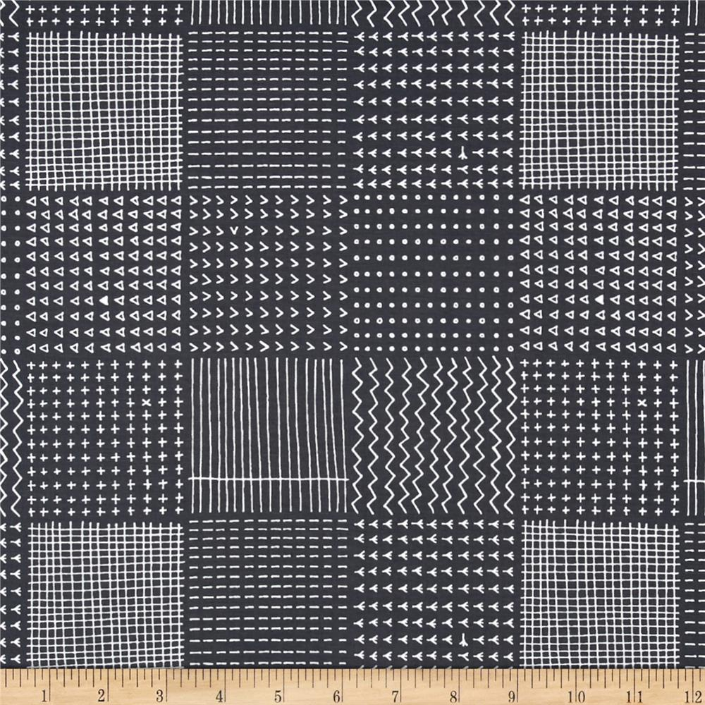 Kaufman Blueberry Park Geo Plaid Graphite