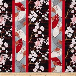 Hanami Falls Repeating Stripe Multi Fabric
