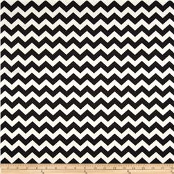 Scuba Knit Chevron Black/White