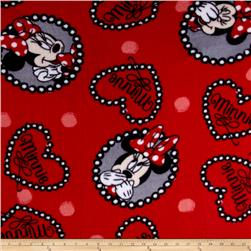 Disney Fleece Framed Minnie Red