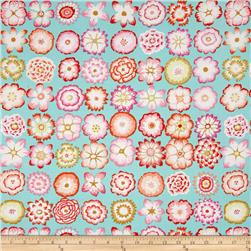 Kaffe Fassett Collective Button Flowers Aqua