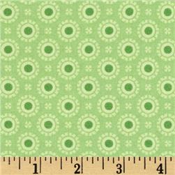 Moda Hi De Ho Fancy Dots Green