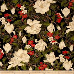 Moda Magnolia Metallics Magnolia & Holly Black