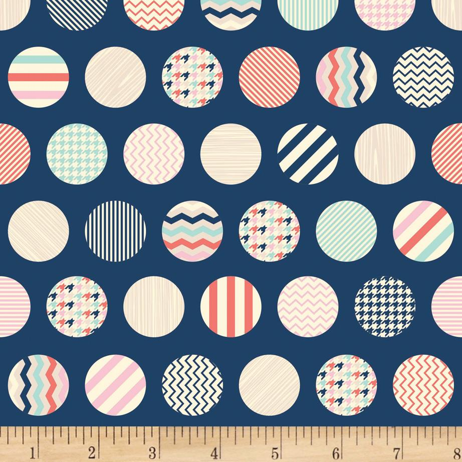 Riley Blake Trendsetter Dots Navy