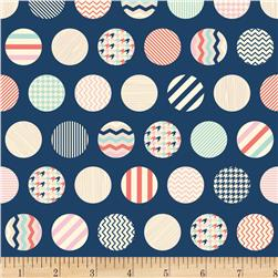 Riley Blake Trendsetter Dots Navy Fabric