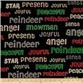 Craft Paper Christmas Words Black