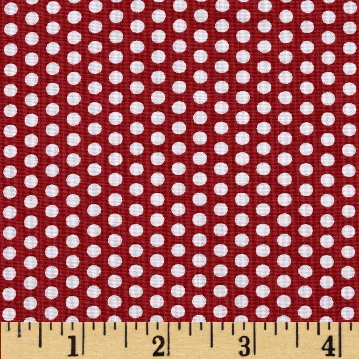 Moda Into the Woods Sweet Dots Cranberry