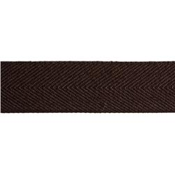 1 1/2'' Poly Twill Tape Ribbon Brown