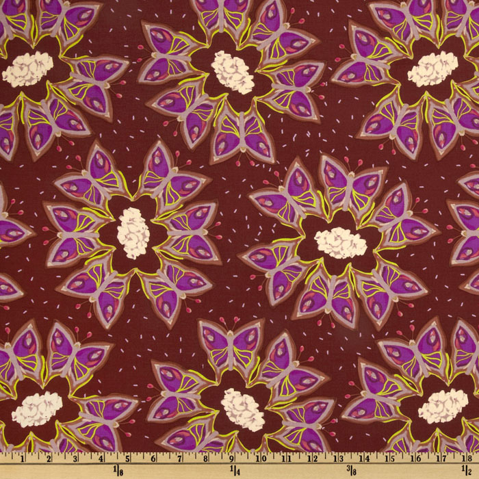 Sleeping Beauty Sleeping Beauty Butterfly Purple Fabric