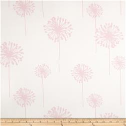 Premier Prints Dandelion Twill White/Bella Pink Fabric