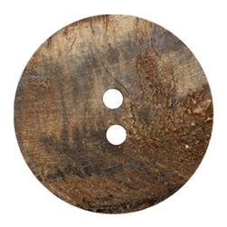 Genuine Horn Button 2 3/4'' Natural Ridgeways Natural