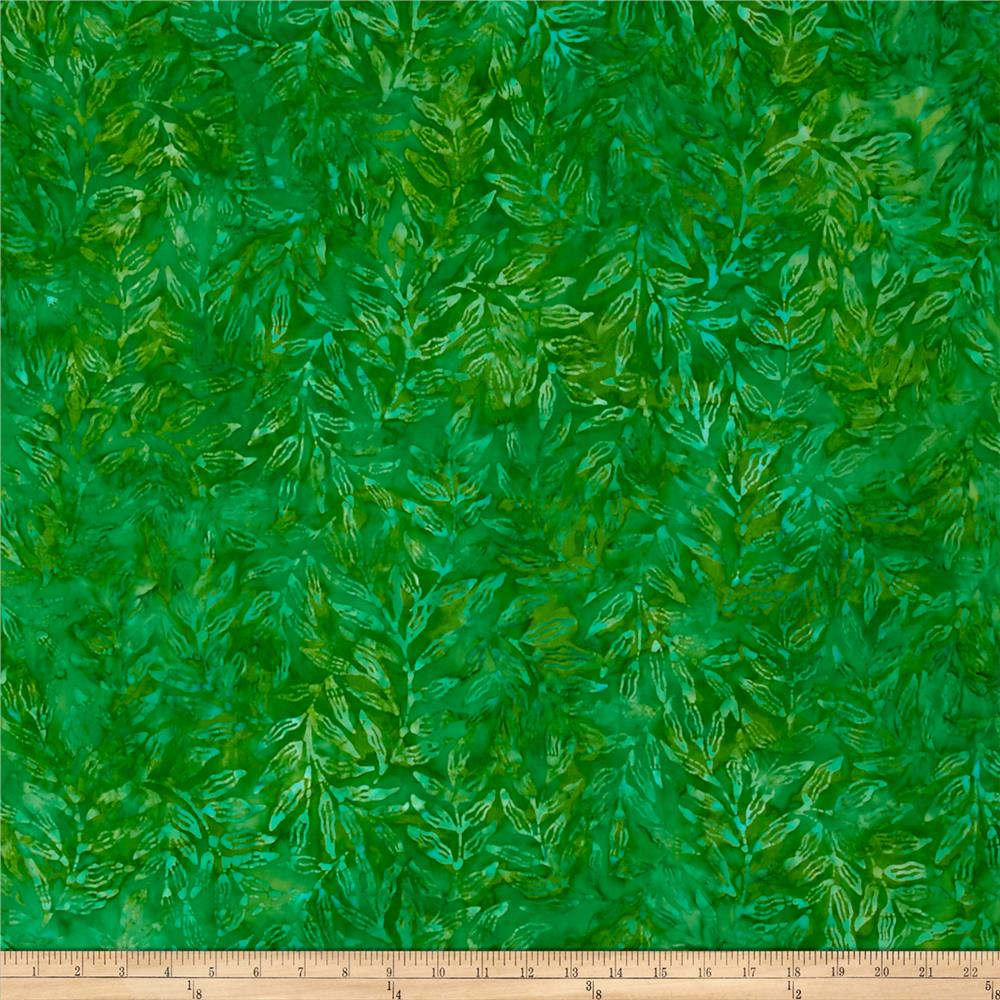Kaufman Totally Tropical Batik Palm Branches Island Green