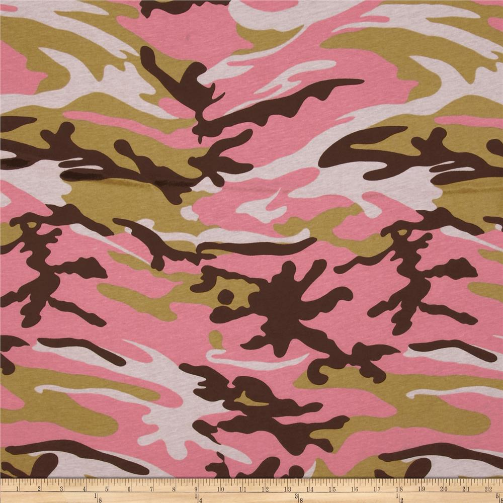 Jersey Knit Pink Camo Army Tan/Pink