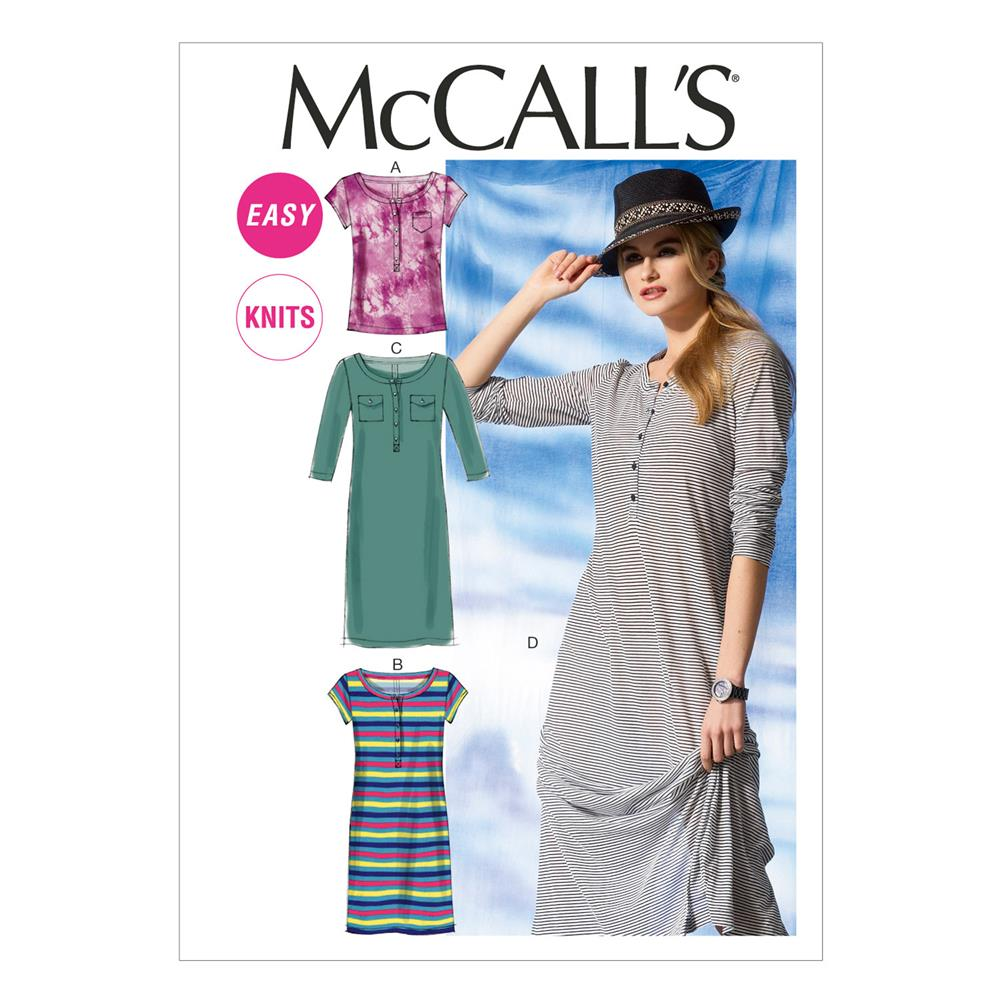 McCall's Misses' Top and Dresses Pattern M6747 Size 0Y0