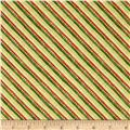 Holiday Traditions Metallic Diagonal Stripe Gold