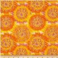 Calypso Goldfish Tie Dye Circles  Orange/Yellow