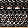 Ikat Diamond Span Jersey Knit Black/Blush