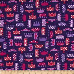 Robert Kaufman Princess Life Small Crowns Purple