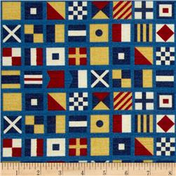 Ship's Ahoy Nautical Flags Navy