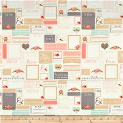 Riley Blake Rustic Elegance Postcards White