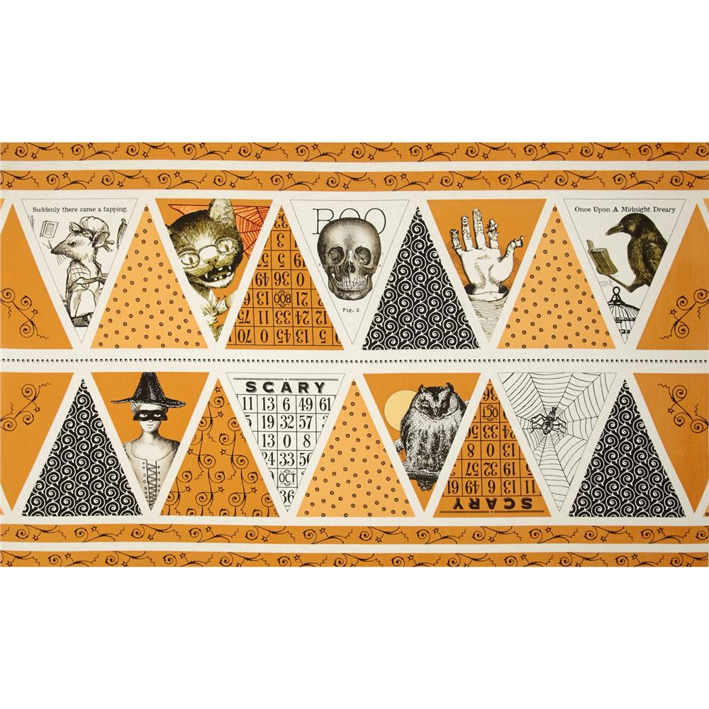 Sew Scary 24 In. Bunting Halloween Panel Orange