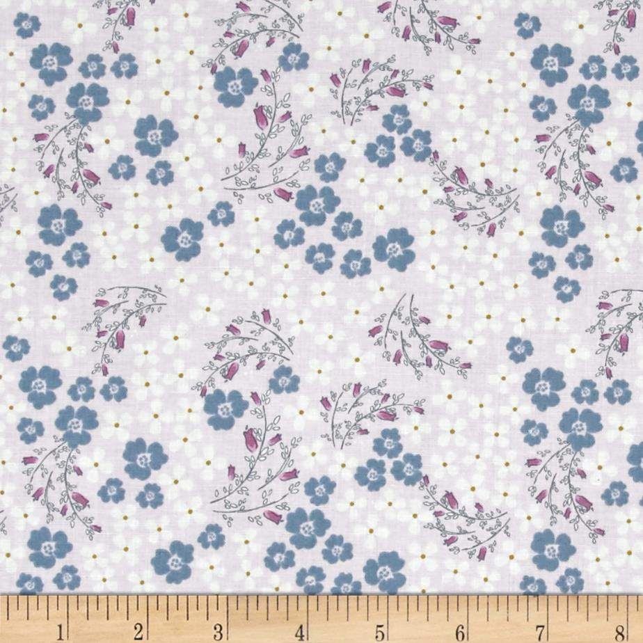 Laugh Love Quilt Viney Floral Purple