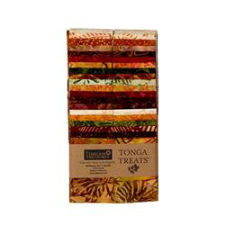 "Timeless Treasures Tonga Batik Autumn 2.5"" Strip Packs"